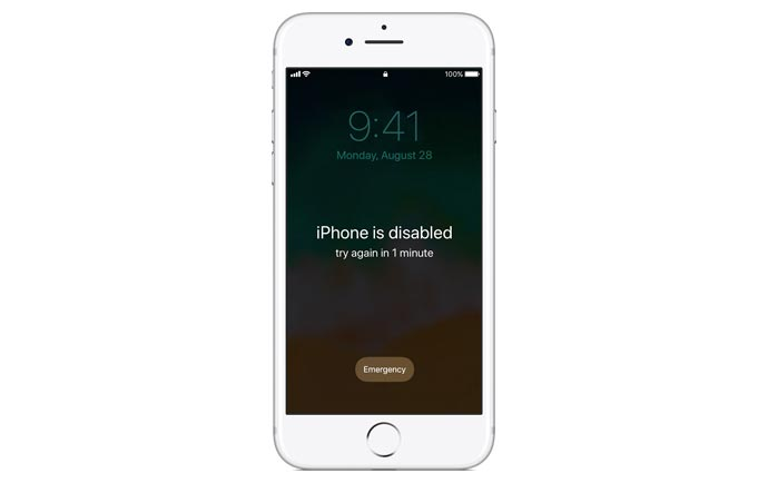 مشکل Disable شدن iphone